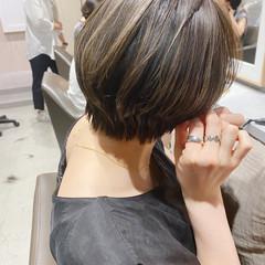 ナチュラル 透明感カラー ショートヘア ハンサムショート ヘアスタイルや髪型の写真・画像