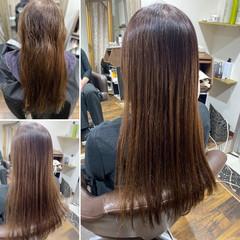 縮毛矯正 エレガント 最新トリートメント 髪質改善トリートメント ヘアスタイルや髪型の写真・画像