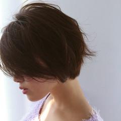 ショート ニュアンス ボブ ナチュラル ヘアスタイルや髪型の写真・画像