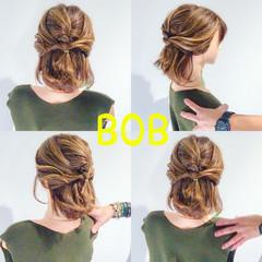 アウトドア 簡単ヘアアレンジ デート ヘアアレンジ ヘアスタイルや髪型の写真・画像
