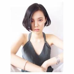 暗髪 春 パンク ストリート ヘアスタイルや髪型の写真・画像