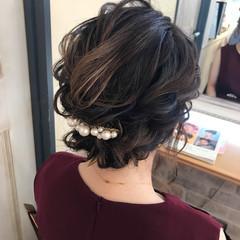 ヘアアレンジ 秋 結婚式 リラックス ヘアスタイルや髪型の写真・画像