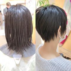 ベリーショート ショートヘア ウルフカット ナチュラル ヘアスタイルや髪型の写真・画像