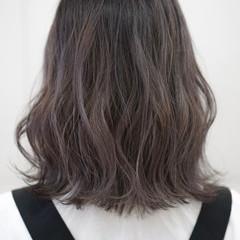 透け感 カジュアル ストリート ラベンダーグレージュ ヘアスタイルや髪型の写真・画像