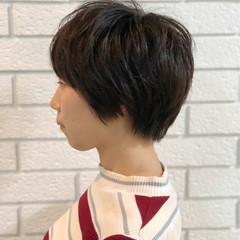 かわいい ナチュラル ショート レイヤーカット ヘアスタイルや髪型の写真・画像
