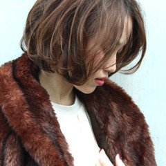 ショート 上品 オフィス ボブ ヘアスタイルや髪型の写真・画像