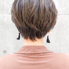 ベリーショート ショート デジタルパーマ ショートボブ ヘアスタイルや髪型の写真・画像