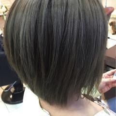アッシュ 外国人風カラー イルミナカラー ショート ヘアスタイルや髪型の写真・画像