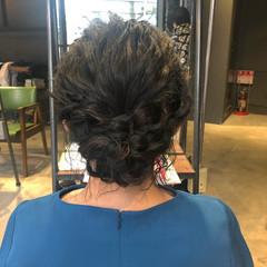 結婚式ヘアアレンジ 簡単ヘアアレンジ ミディアム ヘアアレンジ ヘアスタイルや髪型の写真・画像