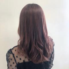 ピンク ピンクブラウン エレガント ピンクアッシュ ヘアスタイルや髪型の写真・画像