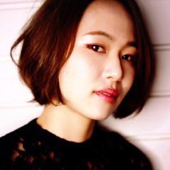 ストリート 色気 艶髪 冬 ヘアスタイルや髪型の写真・画像