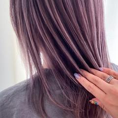 透明感カラー ナチュラル 暗髪バイオレット 透明感 ヘアスタイルや髪型の写真・画像