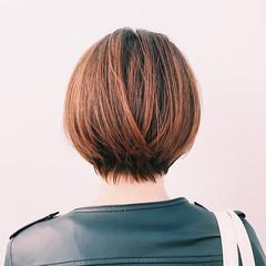 ナチュラル ショート マッシュ 冬 ヘアスタイルや髪型の写真・画像