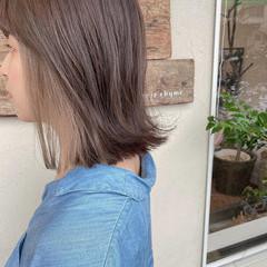 インナーカラー ショートボブ ナチュラル ミディアム ヘアスタイルや髪型の写真・画像