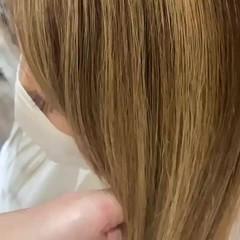 大人ハイライト 髪質改善トリートメント ロング エレガント ヘアスタイルや髪型の写真・画像