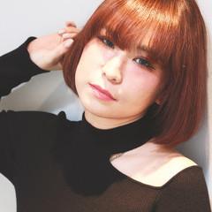 外国人風カラー フェミニン イルミナカラー ボブ ヘアスタイルや髪型の写真・画像