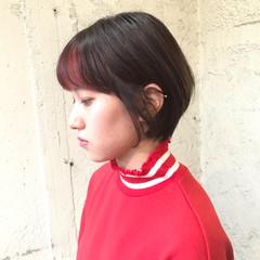 ショートヘア 切りっぱなしボブ ショートボブ ミニボブ ヘアスタイルや髪型の写真・画像
