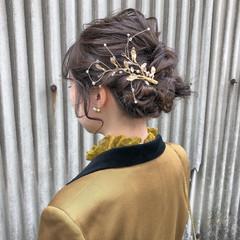 ヘアアレンジ 簡単ヘアアレンジ ヘアセット ナチュラル ヘアスタイルや髪型の写真・画像