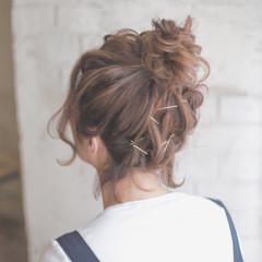 ゆるふわ ヘアアレンジ ハイライト 簡単ヘアアレンジ ヘアスタイルや髪型の写真・画像