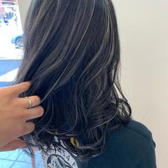 ハイライト 大人カラー モード 極細ハイライト ヘアスタイルや髪型の写真・画像