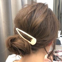 デート フェミニン ヘアアレンジ 簡単ヘアアレンジ ヘアスタイルや髪型の写真・画像