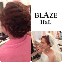 ロング 大人かわいい 編み込み ヘアアレンジ ヘアスタイルや髪型の写真・画像