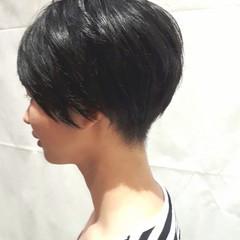 簡単 耳かけ ナチュラル 黒髪 ヘアスタイルや髪型の写真・画像