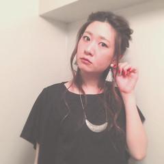ヘアアレンジ シニヨン セルフヘアアレンジ ロープ編み ヘアスタイルや髪型の写真・画像