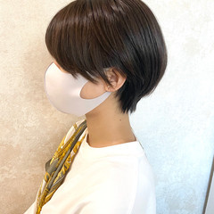 ナチュラル 大人カジュアル ショートヘア ハンサムショート ヘアスタイルや髪型の写真・画像