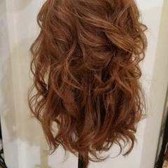 簡単ヘアアレンジ フェミニン ヘアアレンジ 結婚式ヘアアレンジ ヘアスタイルや髪型の写真・画像