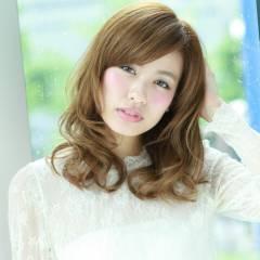 外国人風 コンサバ ミディアム 春 ヘアスタイルや髪型の写真・画像