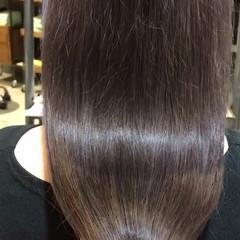 ナチュラル ラベージュ ラベンダーカラー ロング ヘアスタイルや髪型の写真・画像