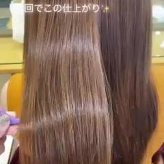髪質改善カラー ナチュラル ロング 髪質改善 ヘアスタイルや髪型の写真・画像