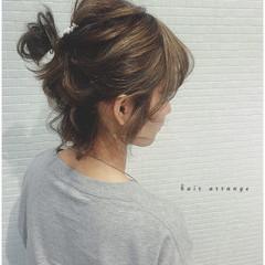 ヘアアレンジ ボブ お団子 簡単ヘアアレンジ ヘアスタイルや髪型の写真・画像