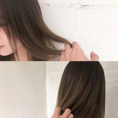 ニュアンス ナチュラル グラデーションカラー ハイライト ヘアスタイルや髪型の写真・画像