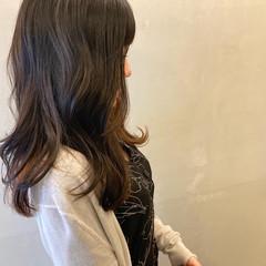 韓国ヘア ロング エレガント ハイライト ヘアスタイルや髪型の写真・画像