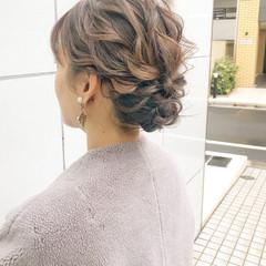 デート ヘアアレンジ アンニュイほつれヘア 結婚式 ヘアスタイルや髪型の写真・画像