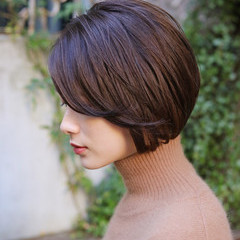 ボブ デート アンニュイほつれヘア ナチュラル ヘアスタイルや髪型の写真・画像