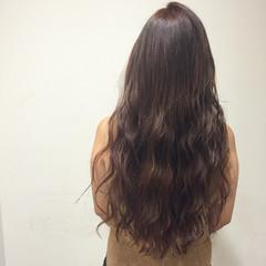 ピンク ガーリー 艶髪 ロング ヘアスタイルや髪型の写真・画像