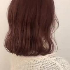 ナチュラル ラズベリーピンク ラベンダーピンク ピンクブラウン ヘアスタイルや髪型の写真・画像