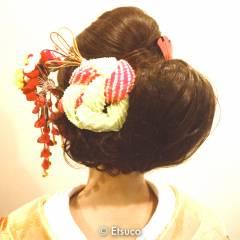 ヘアアレンジ 卵型 花嫁 和装 ヘアスタイルや髪型の写真・画像