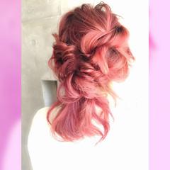 フェミニン 大人かわいい ヘアアレンジ ミディアム ヘアスタイルや髪型の写真・画像