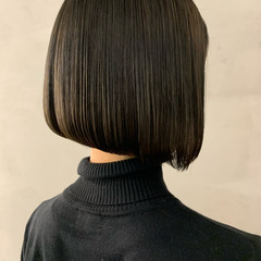 ボブ ナチュラル 前下がりボブ 前下がりショート ヘアスタイルや髪型の写真・画像