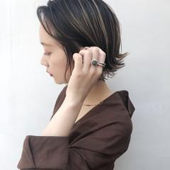 ハイライト 外国人風カラー ボブ ナチュラル ヘアスタイルや髪型の写真・画像