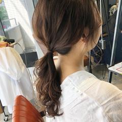 セミロング ナチュラル 大人かわいい 簡単ヘアアレンジ ヘアスタイルや髪型の写真・画像