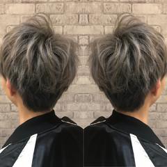 メンズマッシュ モード ショート ショートマッシュ ヘアスタイルや髪型の写真・画像