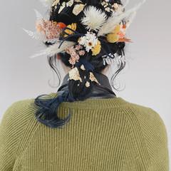 ポニーテールアレンジ ヘアセット 成人式 ナチュラル ヘアスタイルや髪型の写真・画像