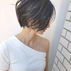 外国人風 ボブ 大人かわいい 大人女子 ヘアスタイルや髪型の写真・画像