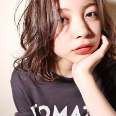 外国人風 ゆるふわ 大人女子 ミディアム ヘアスタイルや髪型の写真・画像