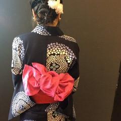 フェミニン お祭り 夏 花火大会 ヘアスタイルや髪型の写真・画像